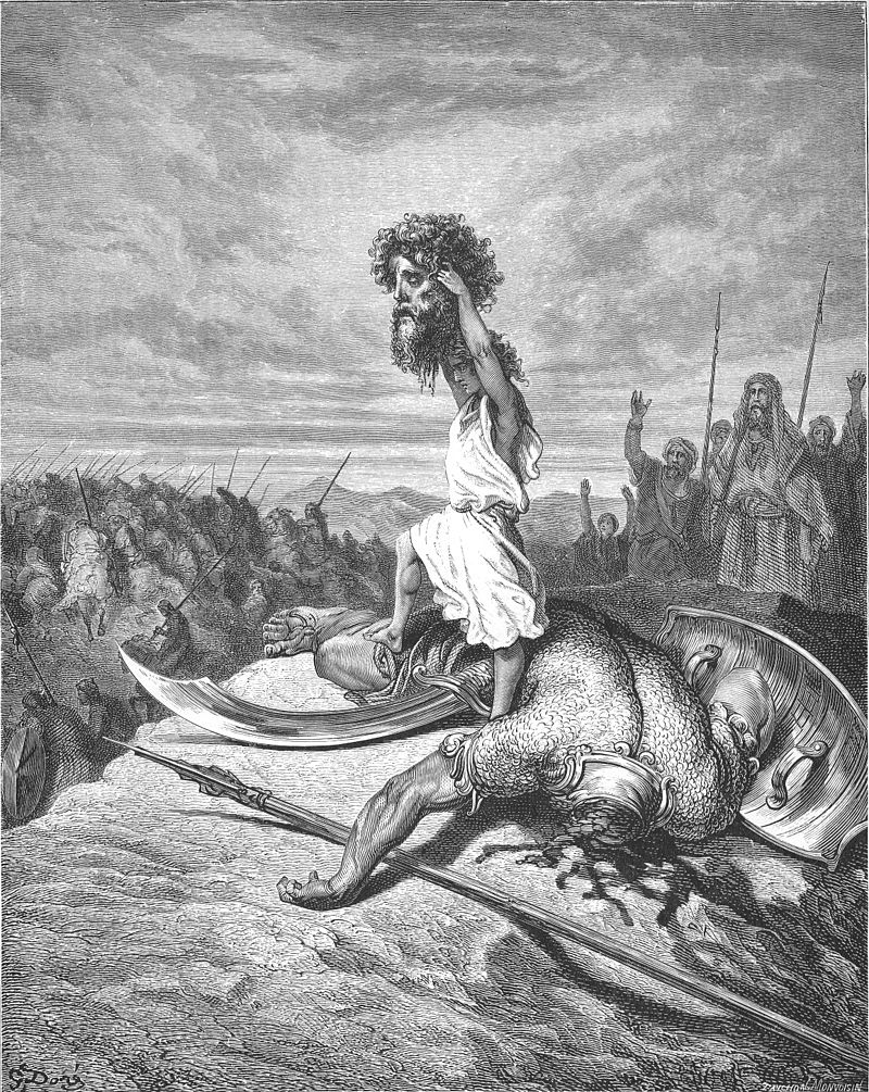 Who is the hero in the story of David and Goliath?