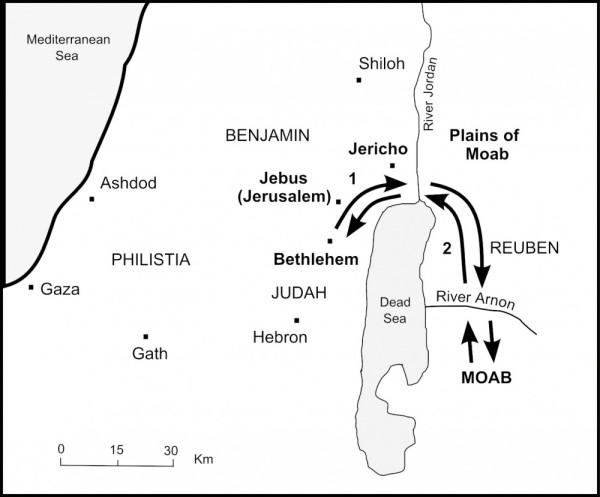 bethlehem to moab