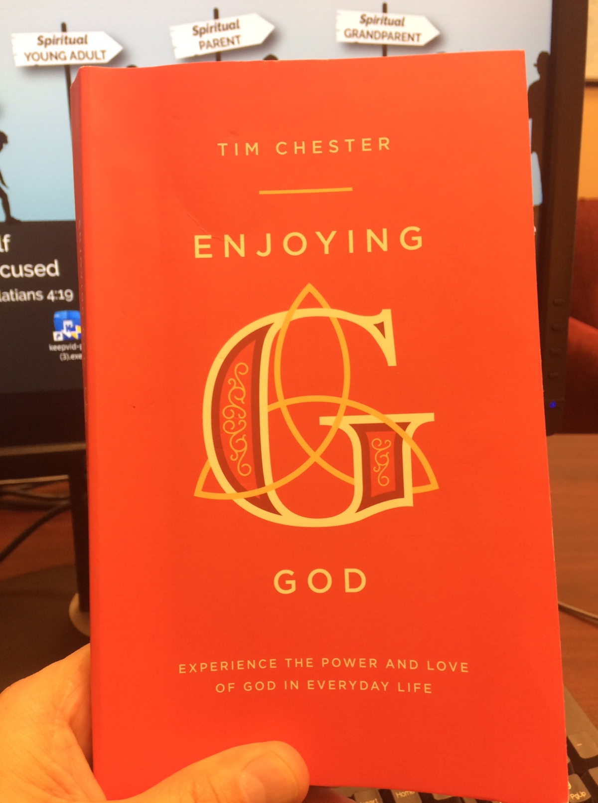 "My book of the year, ""Enjoying God"" by Tim Chester"