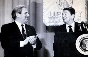 falwell and ronald reagan